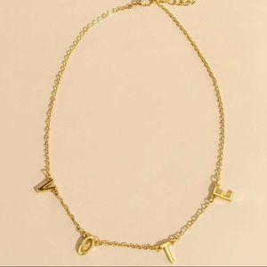 Jewelry - Vote necklace (golden)
